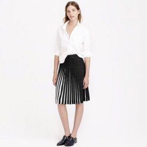 $118 NWT J.CREW Stitched Sunburst Pleated Skirt 4